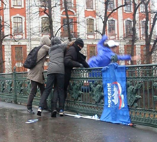 Нападение на агитатора «Единой России»