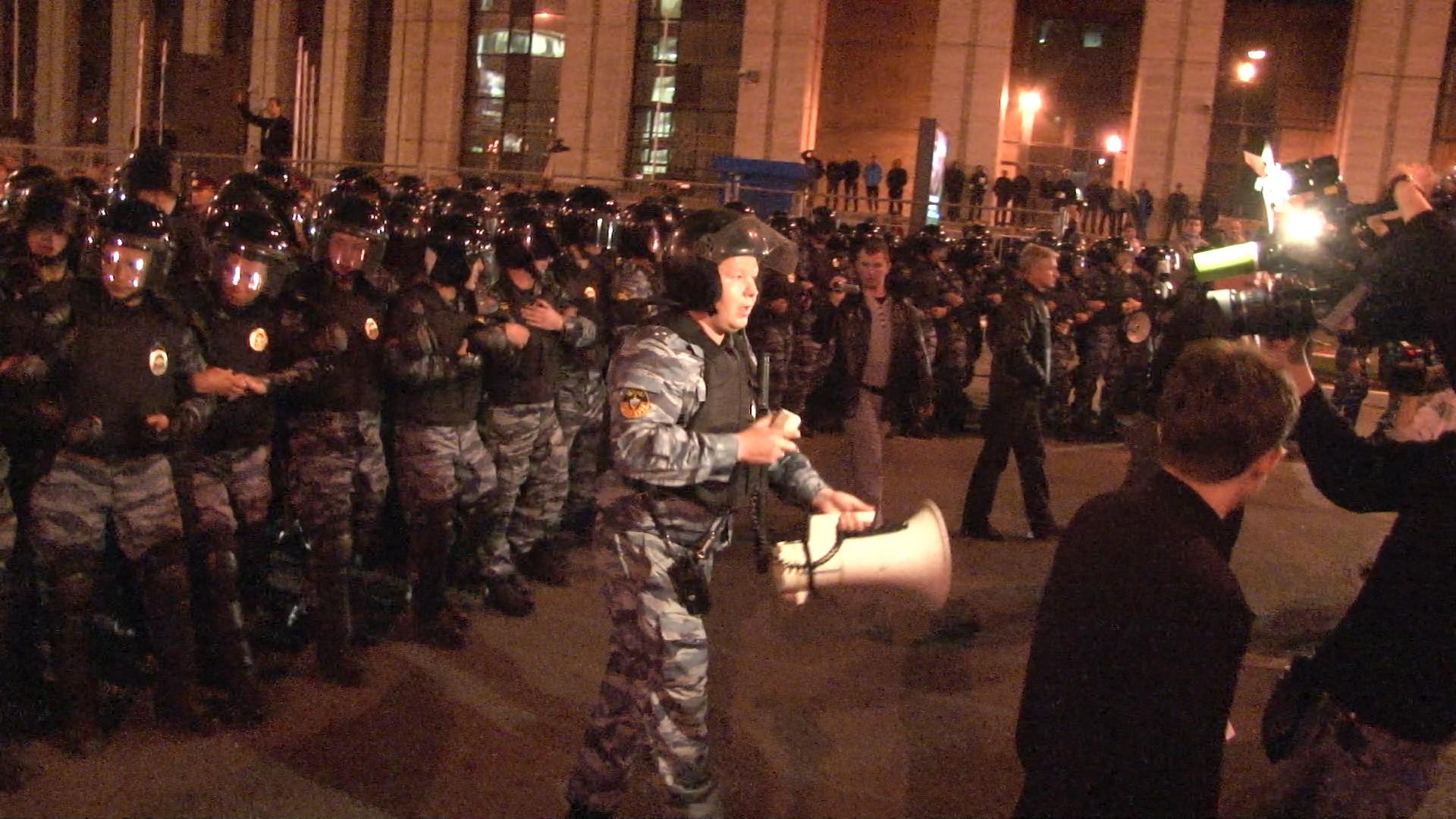 Полиция вытеснила оставшихся после окончания акции «Марш миллионов»