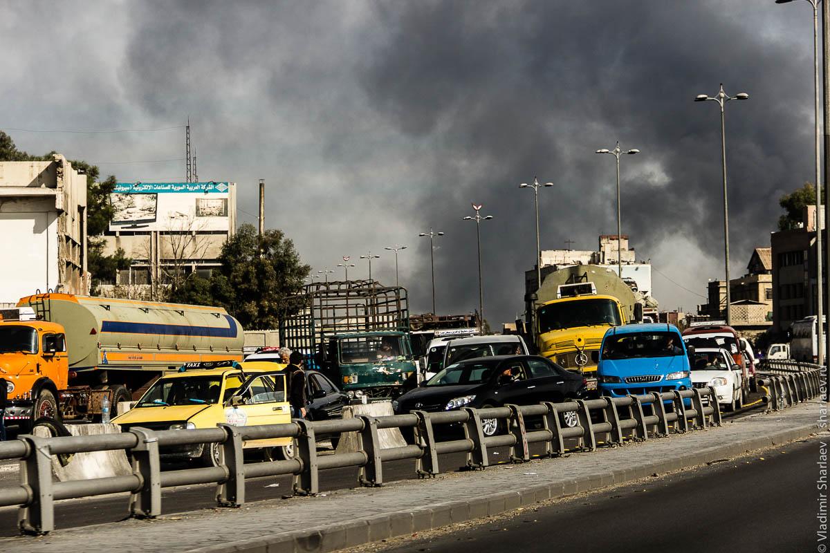 Сирия. Дамаск On-Line: Панорама на бои в Думе и Харасте (запись от 29/11/2012)