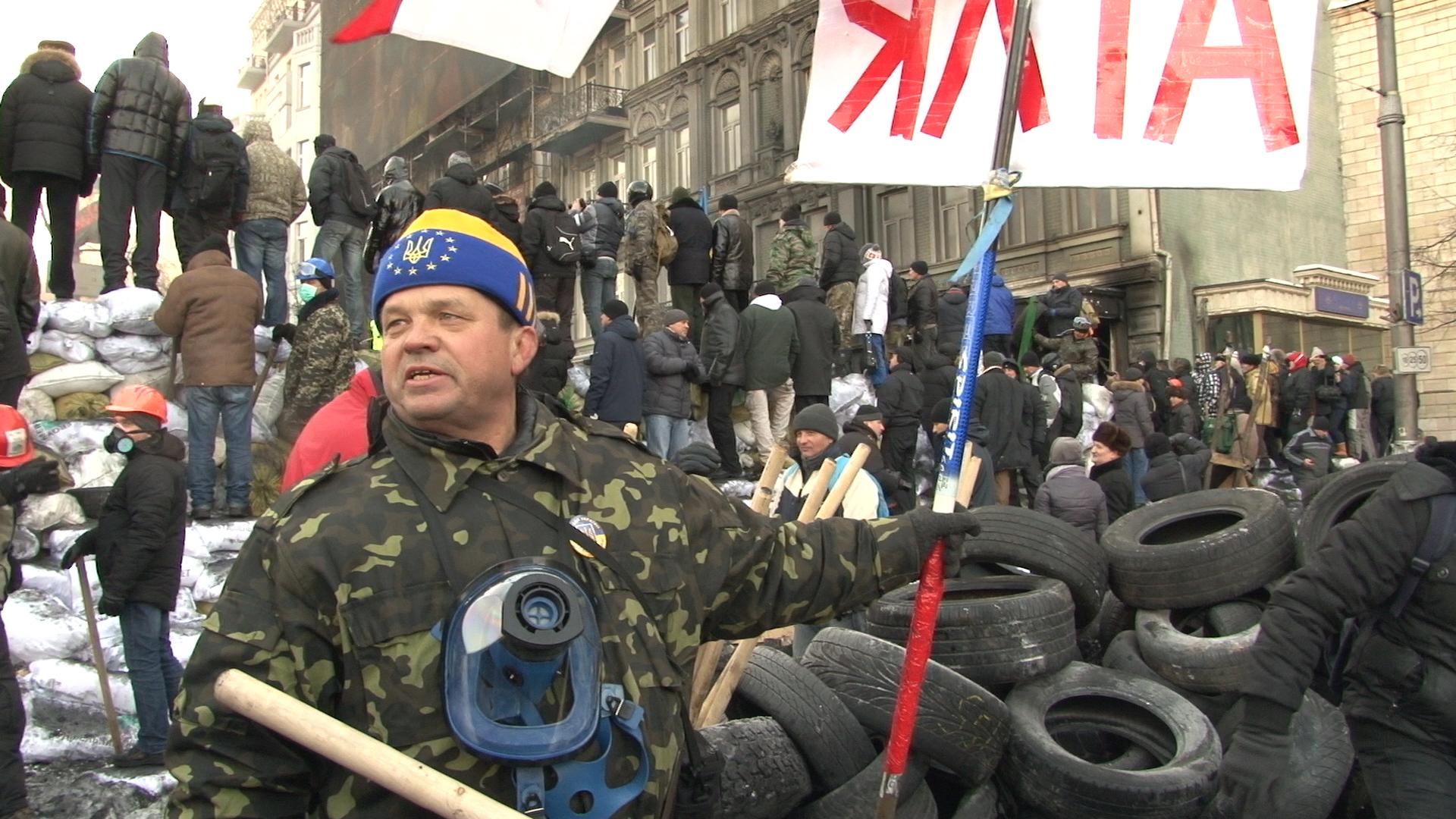 Крымчанин на баррикадах Киева против Януковича