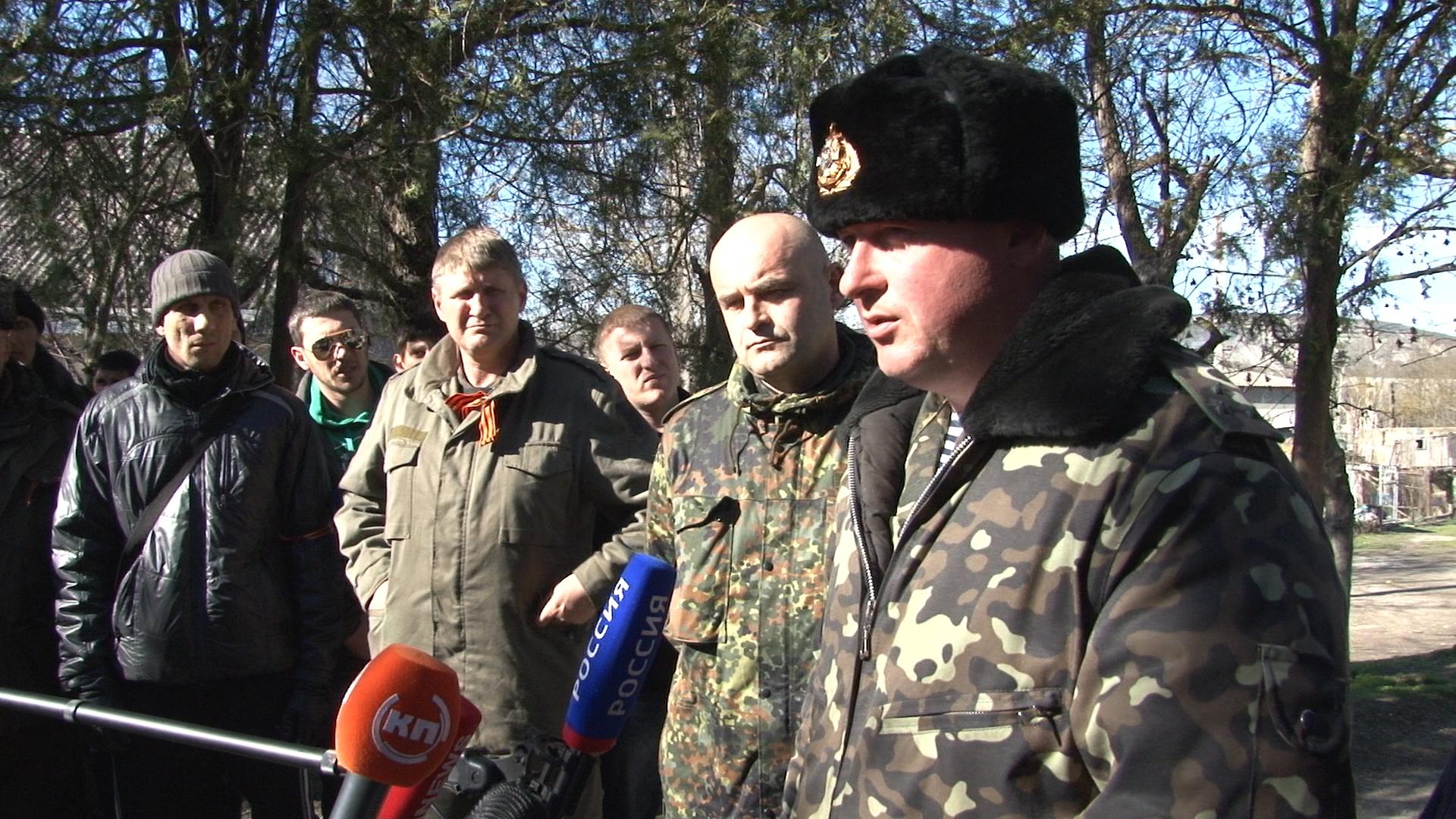 Крым: Командир украинской военной части в Бахчисарае и присяга
