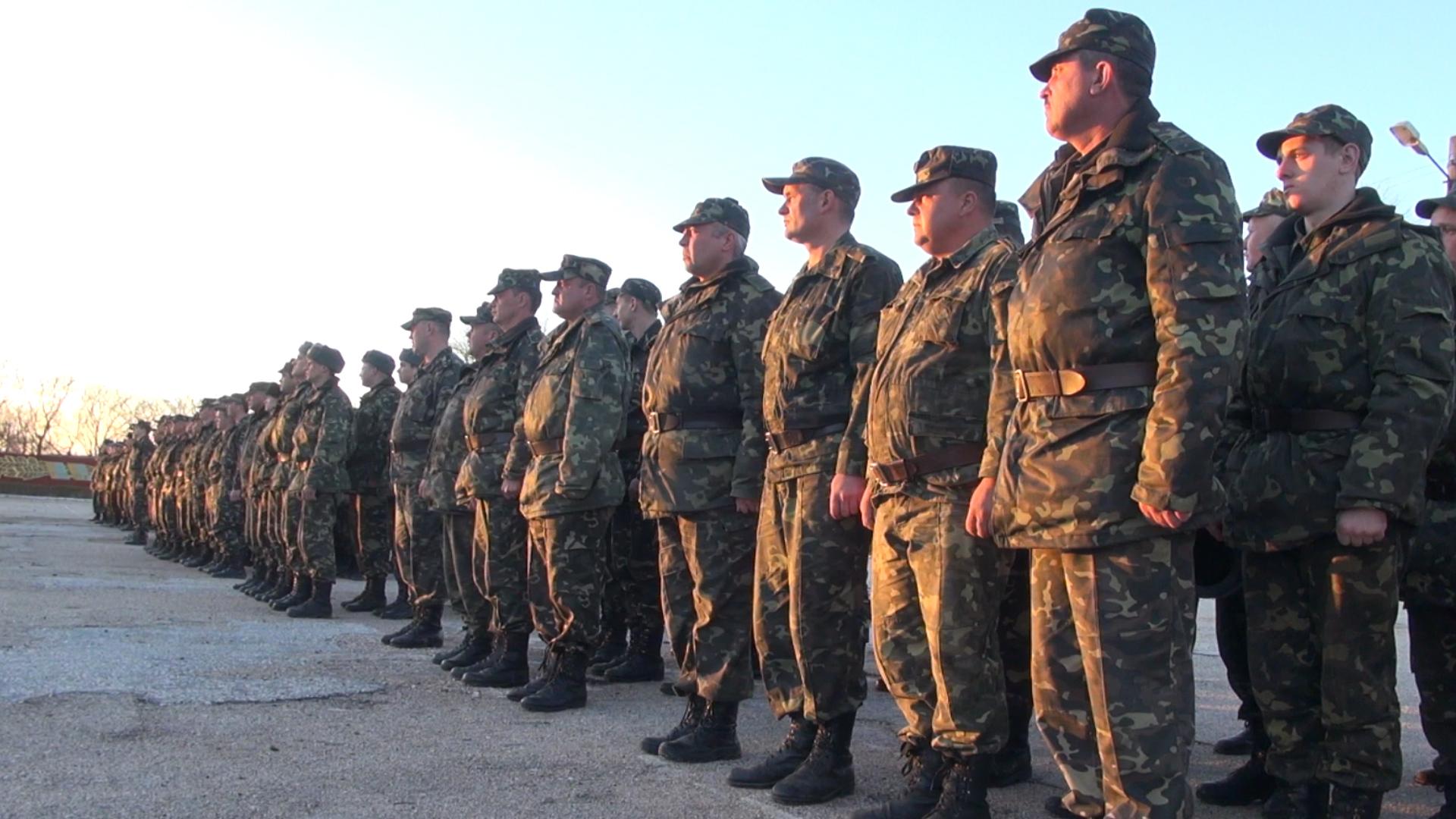 Крым: поднятие флага России на в/ч 4519 г. Евпатории